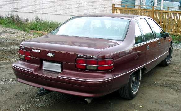 Chevrolet Caprice Classic A on Mercury Cougar 1990 1992